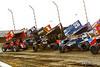 COMP Cams Sprint Car World Championship - Mansfield Motor Speedway - 9 Dean Jacobs, 1 Sammy Swindell, 26 Cory Eliason