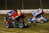 COMP Cams Sprint Car World Championship - Mansfield Motor Speedway - 1Z Logan Wagner, 81 Lee Jacobs, 16 DJ Foos
