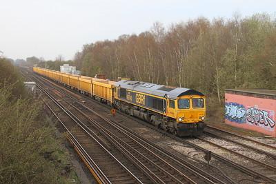 66740 Worting Junction 28/03/19 6M26 Eastleigh to Mountsorrel