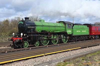 """7 March 2019 :: A closer look at LNER B1 class 4-6-0 no 61306 """"Mayflower"""" at Worting Junction working Steam Dreams 1Z15 from Victoria to Bristol Temple Meads"""