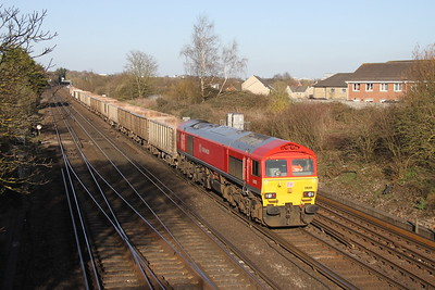 59205 Worting Junction 25/03/19 7V12 Woking to Merehead with 59103 on the rear