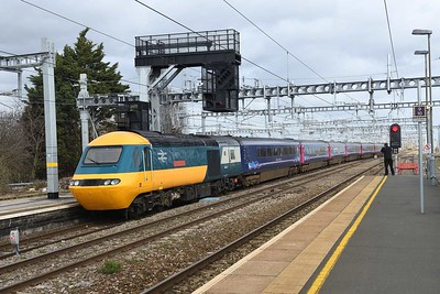 5 March 2019 :: At Swindon the new Class 800's have virtually taken over all the passenger turns and during the time was at Swindon I only saw  set which had 43002 at the rear.  The train is 1A17, the 1230 from Bristol Temple Meads to Paddington