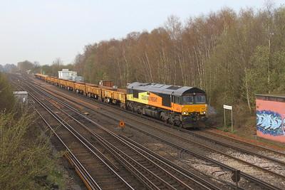 66849 Worting Junction 28/03/19 6Y48 Eastleigh to Hoo Junction
