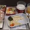 Asiana Airlines in-flight vegetarian meal on the Heathrow-Seoul route, 09.05.2019.