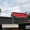 The Vintage Bus Company Park Royal AEC Routemaster JJD508D RML2508 leaving the Buckinghamshire Railway Centre bus rally, 27.05.2019.