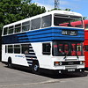 Preserved East Yorkshire ECW Leyland Olympian C537DAT 537 at the Buckinghamshire Railway Centre bus rally, 27.05.2019.