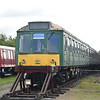 """Class 115 DMU nos. 51886+59761+51889 """"Aylesbury College Silver Jubilee 1987"""" at the Buckinghamshire Railway Centre, 27.05.2019."""
