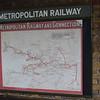 Metropolitan Railway map, Quainton Road station, Buckinghamshire Railway Centre, 27.05.2019.