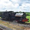 "Bagnall 0-4-0 saddle tank no. 2469 ""Scott"" providing brake van rides at the Buckinghamshire Railway Centre steam gala, 27.05.2019."