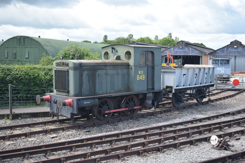 Hunslet 0-4-0 diesel shunter no. 2067 (running as WD no. 849) at the Buckinghamshire Railway Centre, 27.05.2019.