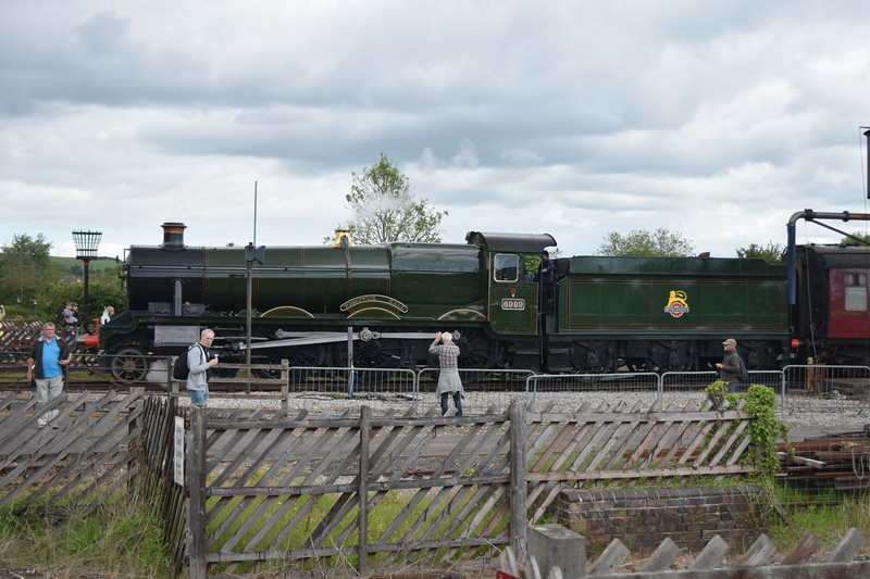 "Newly restored GWR 6959 Hall Class no. 6989 ""Wightwick Hall"" taking part in the Buckinghamshire Railway Centre steam gala, 27.05.2019."