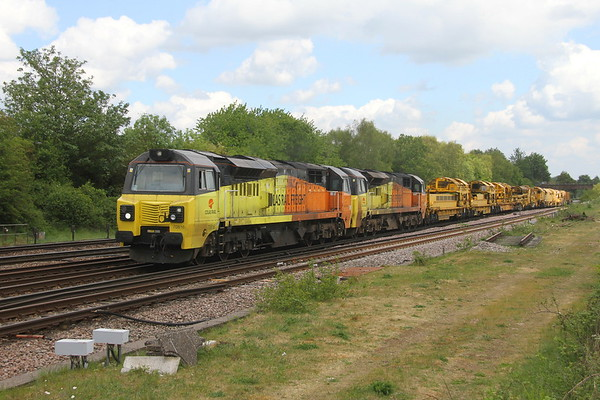 70816 Worting Junction  6X26 Hinksey to Eastleigh with 70806