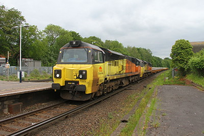 70806 Micheldever 30/05/19 6V27 Eastleigh to Hinksey with 70807