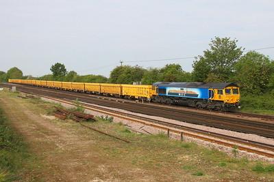 66709 Worting Junction 24/05/19 6M26 Eastleigh to Mountsorrel