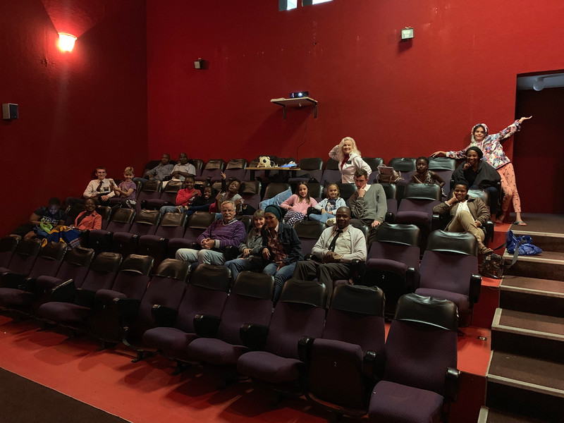 The Knysna Branch is a converted old movie theater.  What Chapel has it's own stadium seating movie room?