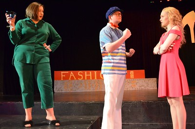 Noah's solo as Elle's Dad. (The girl in green is Elle's Mom and Elle is in pink).