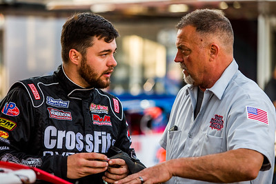 Brandon Overton (L) and crew chief Harold Holly (R)