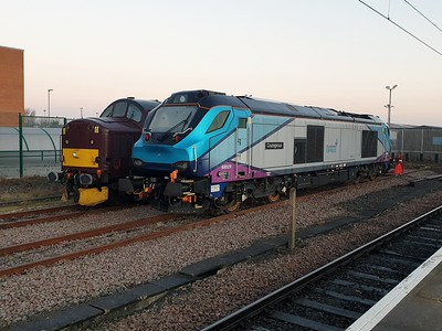 68029 'Courageous' and 37706 at York Holding Sidings   30/12/19
