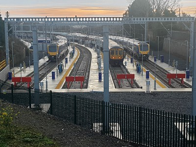 Wigans New DMU/EMU Stabling point where the withdrawn locos used to be kept    28/12/19