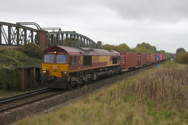 66039 Battledown 21/10/19 4O21 Trafford Park to Southampton Western Docks (KM at the helm)