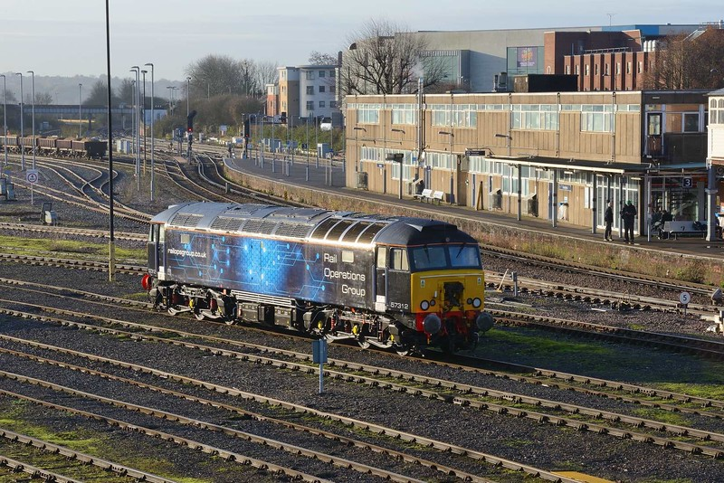 29 November 2019 :: Rail Operations Group's 57312 is stabled by Eastleigh Station