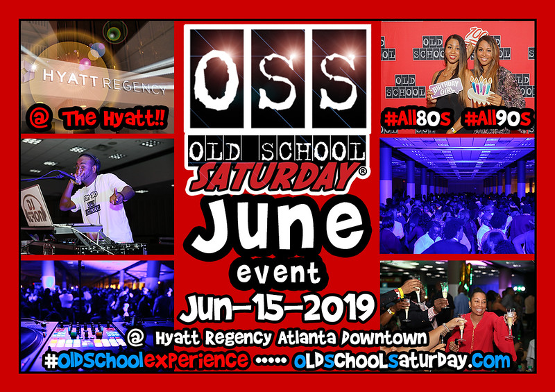 """Join our NEXT event at one of our FAVORITE venue locations --- The Hyatt Regency Downtown ATL on Peachtree ::::: Discount Tickets and Tables are selling now:   <a href=""""http://www.oldschoolsaturday.com"""">http://www.oldschoolsaturday.com</a>"""