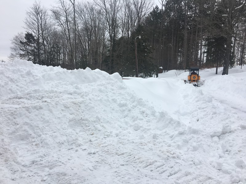 """Doug trying to clear out the 54"""" of snow Medford got in just February"""