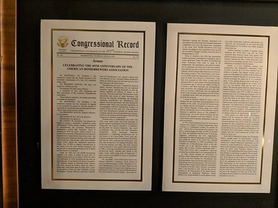 Senate resolution honoring 40 years of the American Homebrewers Association