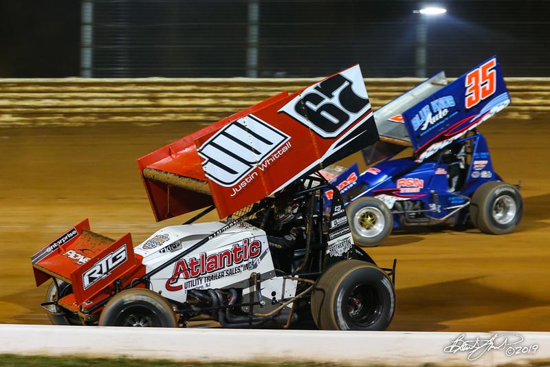 Greg Hodnett Classic- Pennsylvania Sprint Car Speedweek - Port Royal Speedway - 67 Justin Whittall, 35 Tyler Reeser