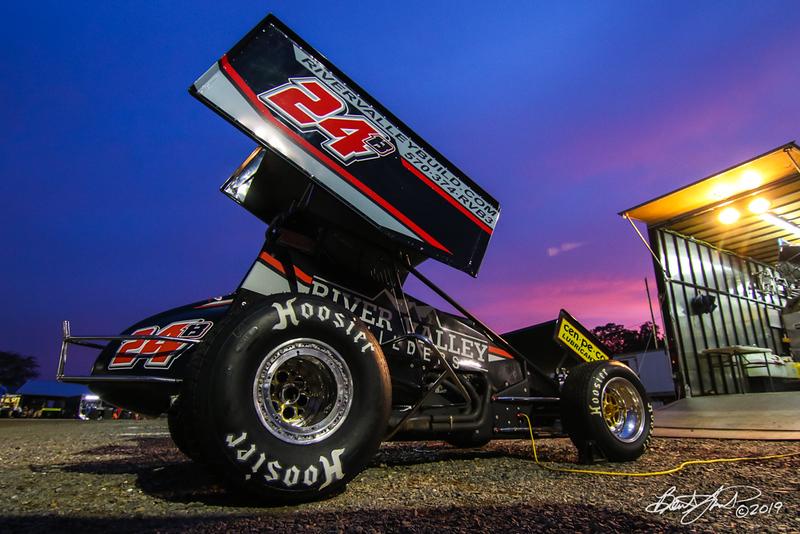 Greg Hodnett Classic- Pennsylvania Sprint Car Speedweek - Port Royal Speedway - 24B Dustin Baney