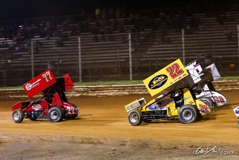 Greg Hodnett Classic- Pennsylvania Sprint Car Speedweek - Port Royal Speedway - 77 Freddie Rahmer Jr., 22 Anthony Macri