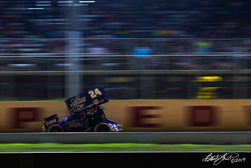 Greg Hodnett Classic- Pennsylvania Sprint Car Speedweek - Port Royal Speedway - 24R Rico Abreu