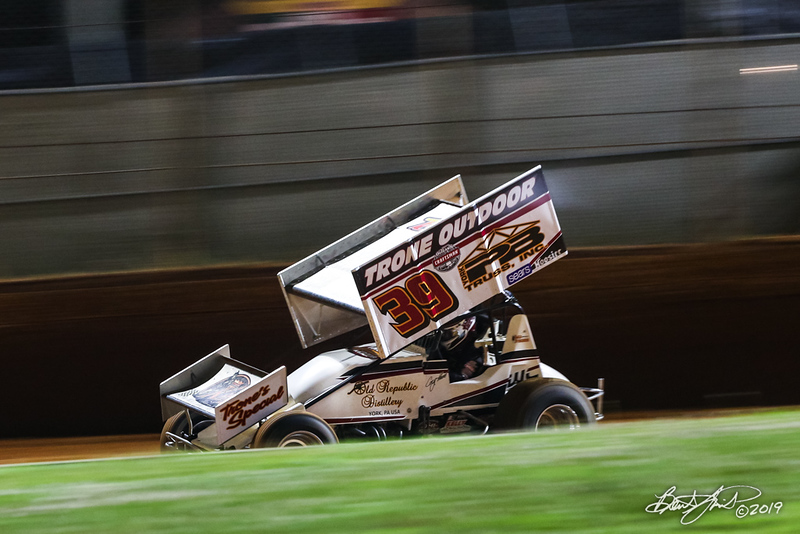 Greg Hodnett Classic- Pennsylvania Sprint Car Speedweek - Port Royal Speedway - 39 Cory Haas