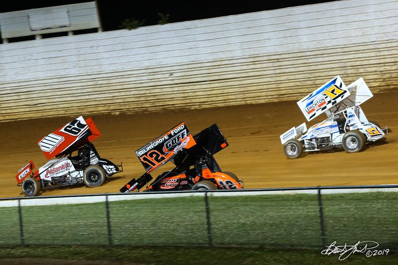 Greg Hodnett Classic- Pennsylvania Sprint Car Speedweek - Port Royal Speedway - 12 Blane Heimbach, 67 Justin Whittall