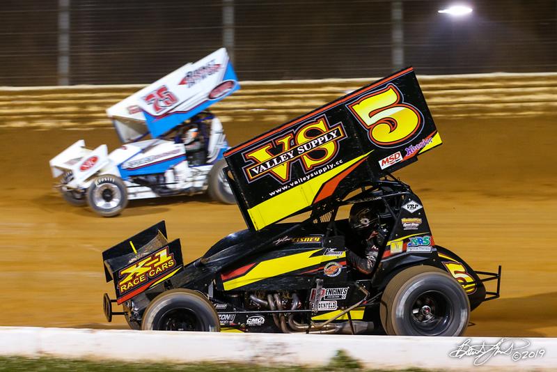 Greg Hodnett Classic- Pennsylvania Sprint Car Speedweek - Port Royal Speedway - 75 Chase Dietz, 5 Dylan Cisney