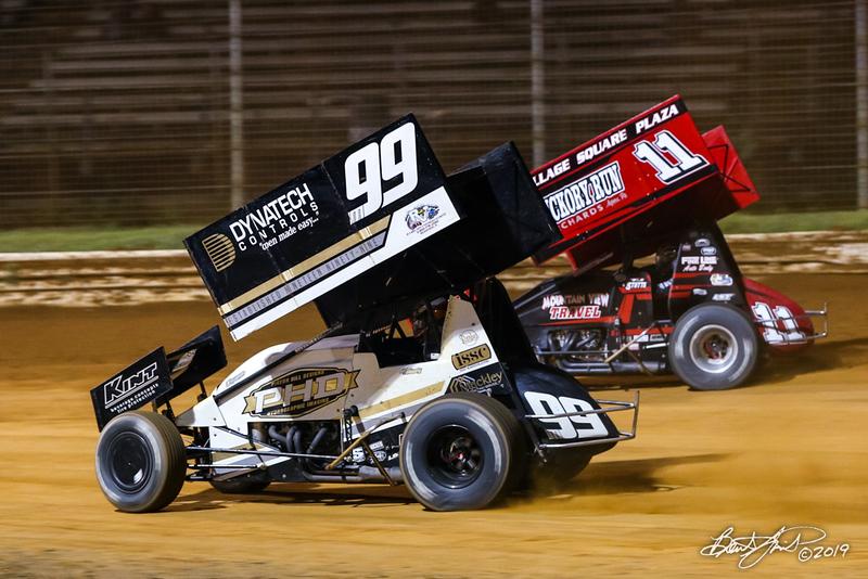 Greg Hodnett Classic- Pennsylvania Sprint Car Speedweek - Port Royal Speedway - 99M Kyle Moody, 11 TJ Stutts