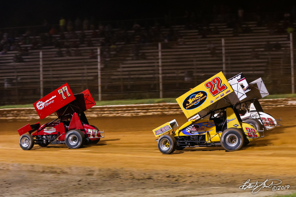 Greg Hodnett Classic- Pennsylvania Sprint Car Speedweek - Port Royal Speedway - 77 Freddie Rahmer Jr., 22 Anthony Macri