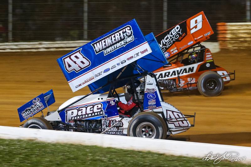 Greg Hodnett Classic- Pennsylvania Sprint Car Speedweek - Port Royal Speedway - 48 Danny Dietrich, 9 James McFadden