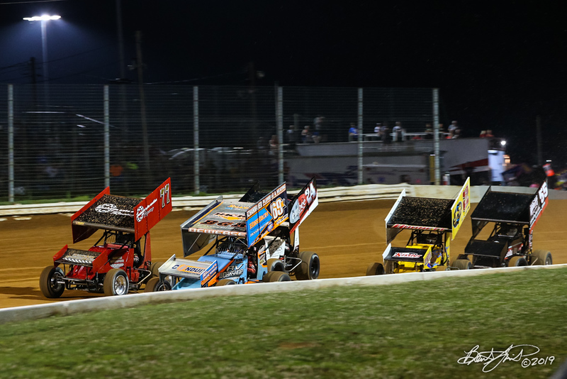 Greg Hodnett Classic- Pennsylvania Sprint Car Speedweek - Port Royal Speedway - 69K Lance Dewease, 77 Freddie Rahmer Jr.
