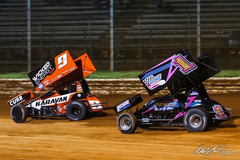 Greg Hodnett Classic- Pennsylvania Sprint Car Speedweek - Port Royal Speedway - 9 James McFadden, 1 Logan Wagner