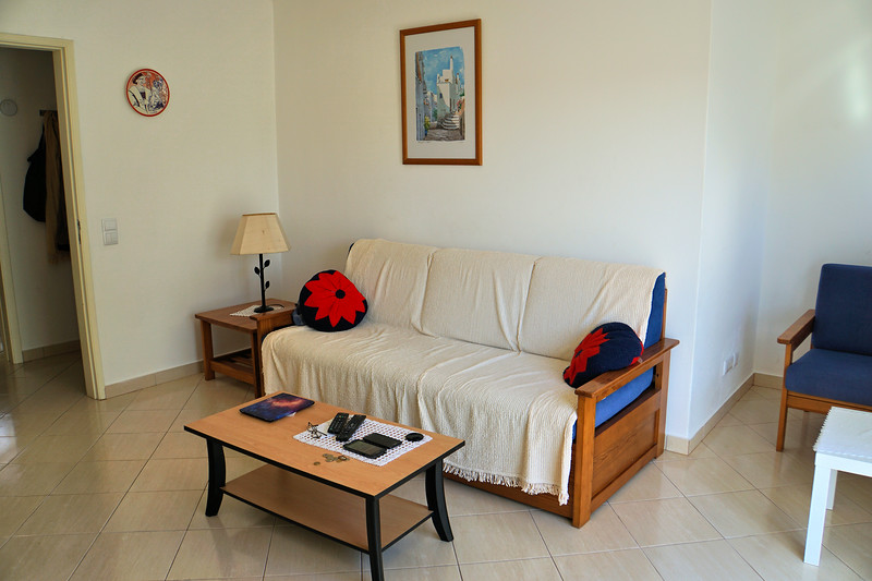 Living room of our Albufeira apartment