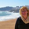 Anne at Albufeira beach