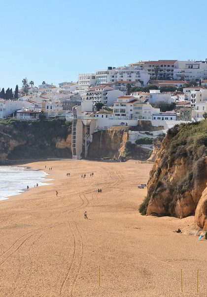 The beach in Albufeira