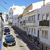 View up the street from our window in Albufeira