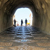 The tunnel at Albufeira beach
