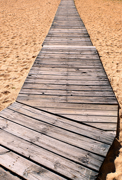 Boardwalk on Albufeira beach