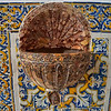 Holy water font in the Faro Sé