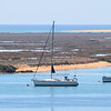 Sailboats in estuary in Faro