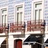 Lisbon street - buildings with azulejo (tile) facade