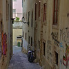 Pedestrian street to our Lisbon apartment